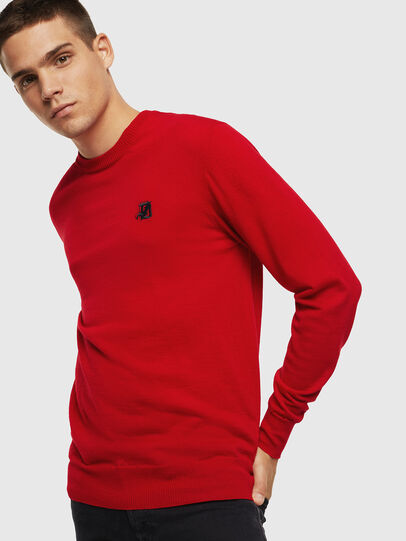 Diesel - K-AMIMI, Rouge - Pull Maille - Image 1