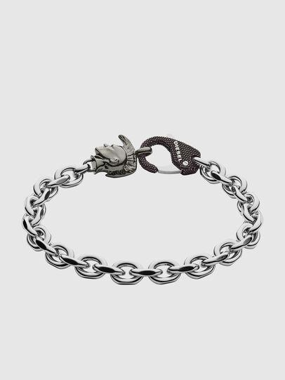 Diesel - DX1146, Gris argenté - Bracelets - Image 1