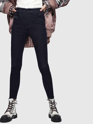Slandy High 089AB, Bleu Foncé - Jeans