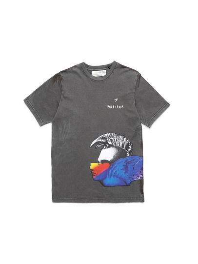 Diesel - D-5055-G, Noir - T-Shirts - Image 1
