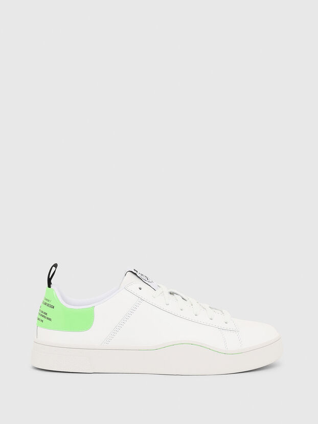 S-CLEVER LOW LACE, Blanc/Vert - Baskets