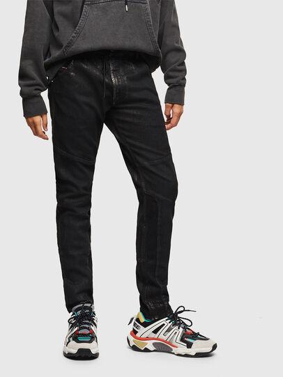 Diesel - D-Luhic JoggJeans 0092W, Noir/Gris foncé - Jeans - Image 1