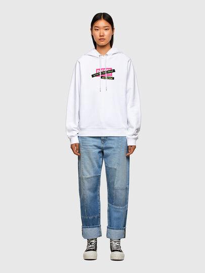 Diesel - F-ANG-HOOD-R20, Blanc - Pull Cotton - Image 4