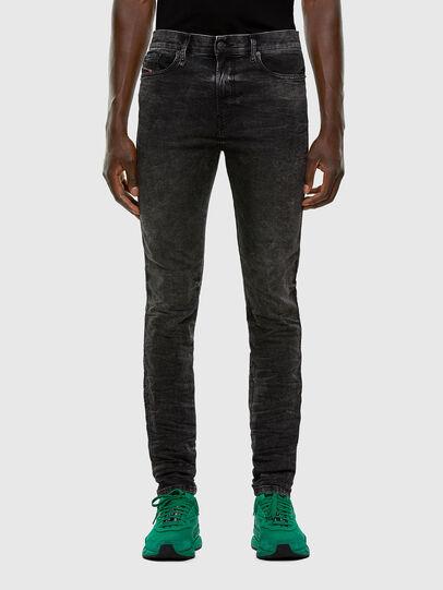 Diesel - D-Reeft JoggJeans 009FZ, Noir/Gris foncé - Jeans - Image 1