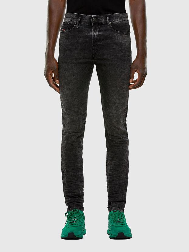 D-Reeft JoggJeans 009FZ, Noir/Gris foncé - Jeans