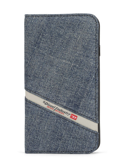 Diesel - DENIM IPHONE 8 PLUS/7 PLUS FOLIO, Jean Bleu - Coques à rabat - Image 1