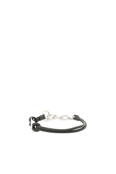 Bracelet en cuir avec plaque logo