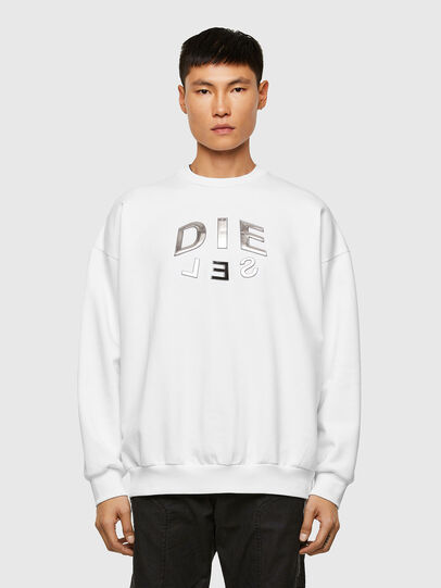 Diesel - S-MART-A90, Blanc - Pull Cotton - Image 1