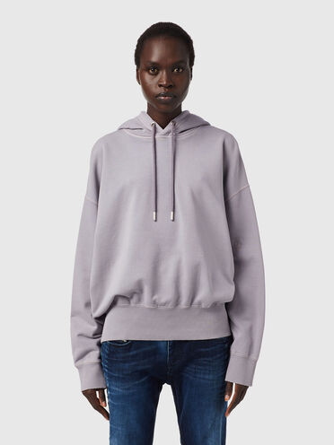 Sweat-shirt à capuche avec broderie ton sur ton