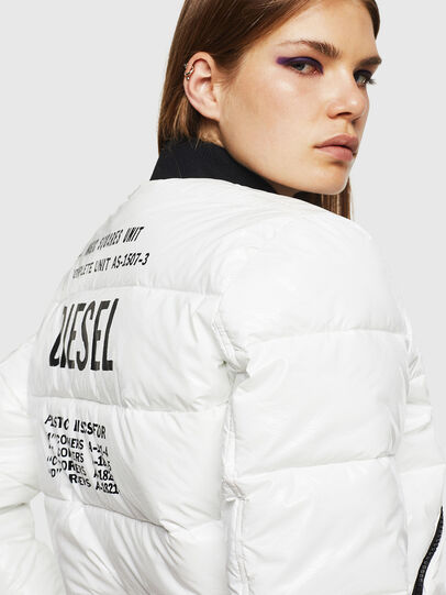 Diesel - W-ONY, Blanc - Vestes d'hiver - Image 3