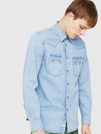 Diesel - D-LEO, Jean Bleu - Chemises en Denim - Image 1