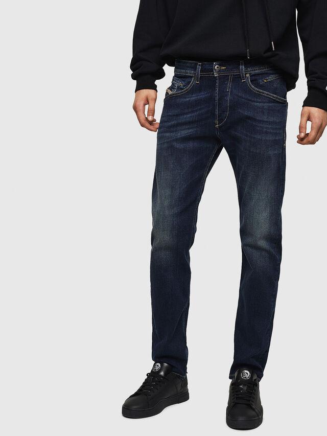 Diesel - Belther 0814W, Bleu Foncé - Jeans - Image 1