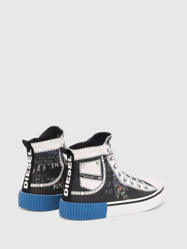 Diesel - SN MID 08 GRAPHIC CH, Noir/Blanc - Footwear - Image 3