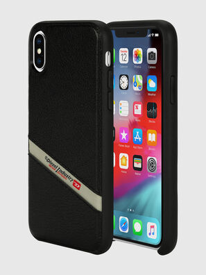 DIESEL LEATHER CO-MOLD CASE FOR IPHONE XS & IPHONE X, Noir - Coques