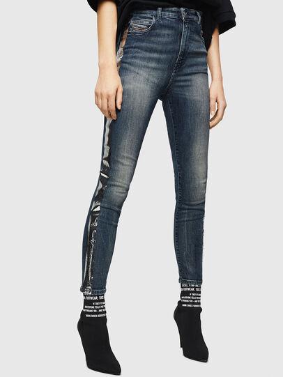 Diesel - Babhila High 069HN, Bleu Foncé - Jeans - Image 1