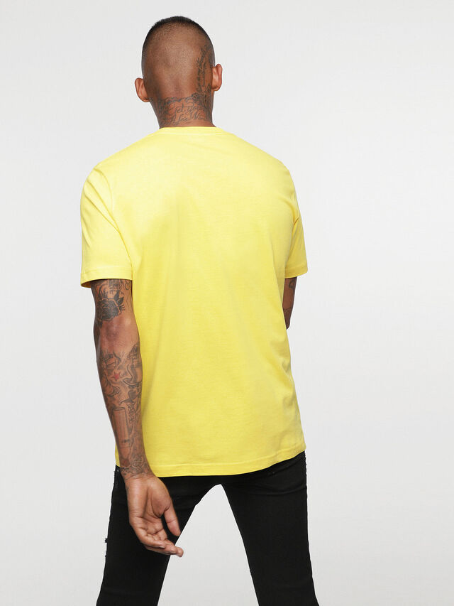Diesel - HC-T-JUST-DIVISION-B, Jaune - T-Shirts - Image 5