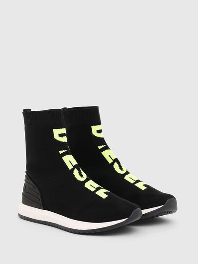 Diesel - SLIP ON 04 MID SOCK, Noir - Footwear - Image 2