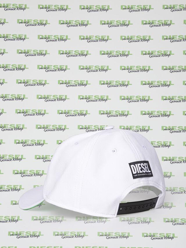 Diesel - MU-CELEB, Blanc - Bérets, chapeaux et gants - Image 2