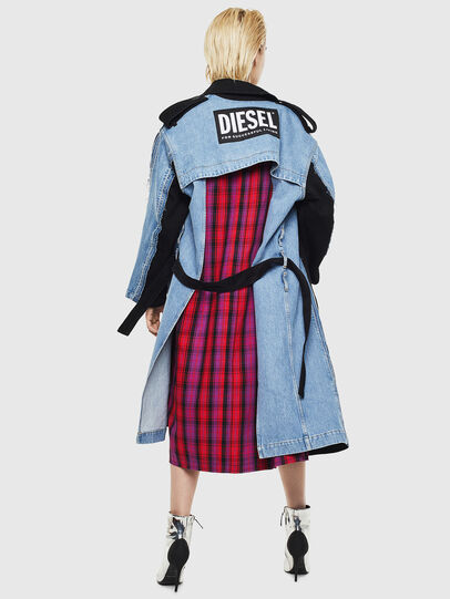 Diesel - DE-PRAVU, Noir/Bleu - Vestes en denim - Image 2