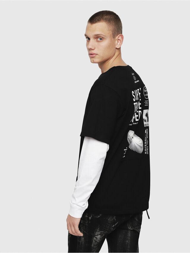 Diesel - T-SHOOT-YA, Noir - T-Shirts - Image 3