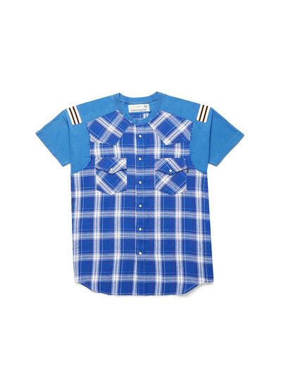 Diesel - D-WESTERNSPORT, Bleu Clair - T-Shirts - Image 1