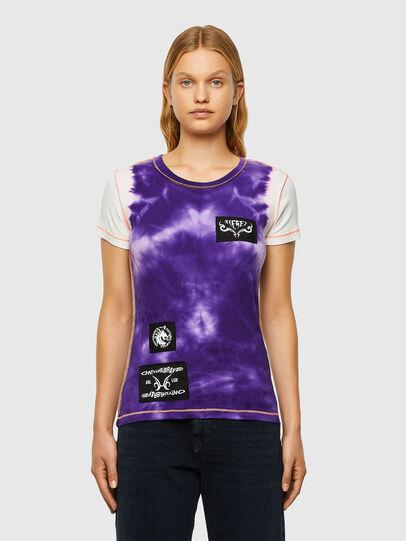 Diesel - T-SUPERY-V10, Blanc/Violet - T-Shirts - Image 1