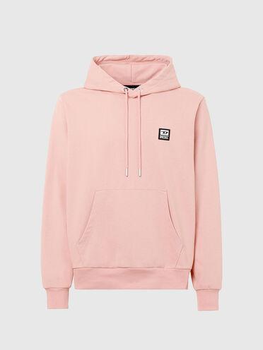 Sweat-shirt à capuche avec empiècement à logo D
