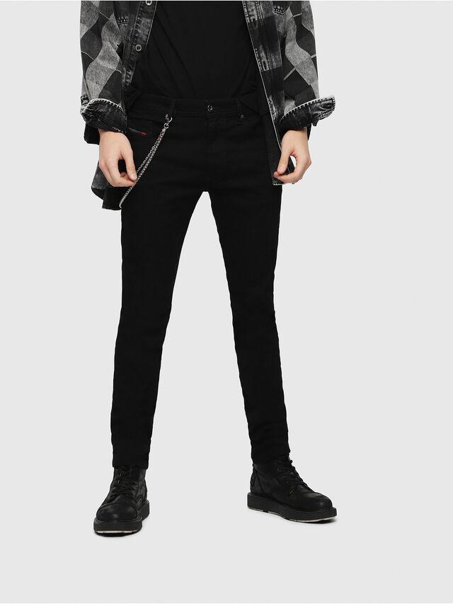 7c1aa89b03 THOMMER 0688H Homme: Slim Jeans Noir/Gris foncé | Diesel