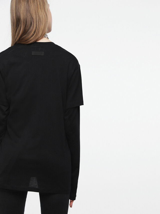 Diesel - T-DARIA-C, Noir/Rose - T-Shirts - Image 2