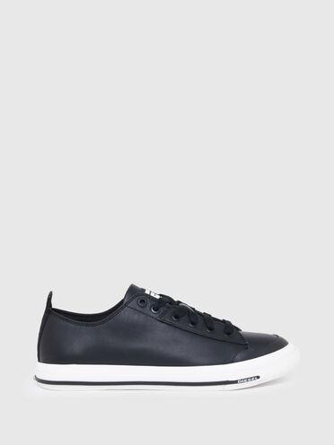 Sneakers basses en cuir avec logo D