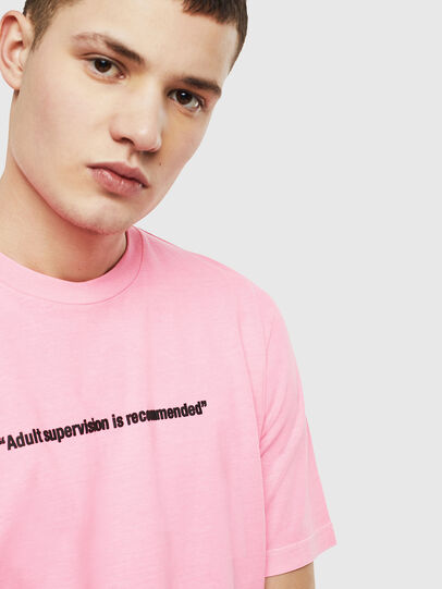 Diesel - T-JUST-NEON, Rose - T-Shirts - Image 5