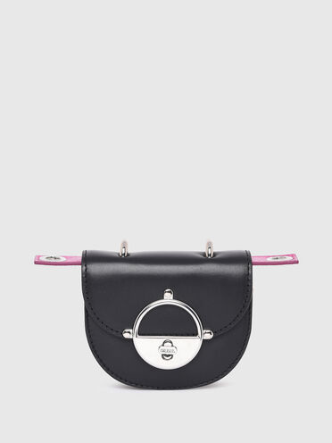 Mini sac portefeuille en forme de sacoche en nappa