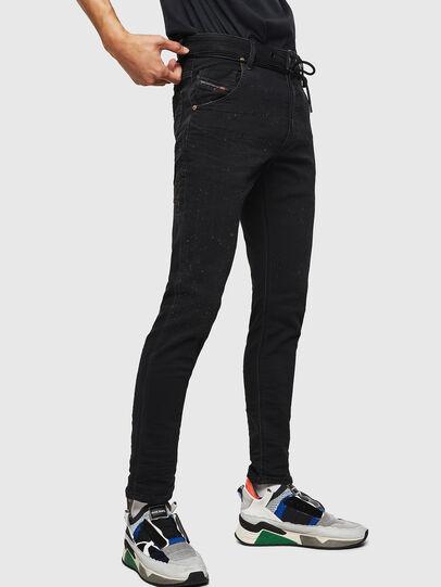 Diesel - Krooley JoggJeans 0092N, Noir/Gris foncé - Jeans - Image 5