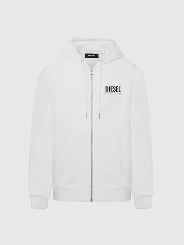 Sweat-shirt à capuche zippé avec logos imprimés