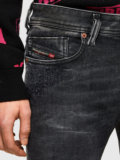 Diesel - Sleenker 009QA, Noir/Gris foncé - Jeans - Image 5