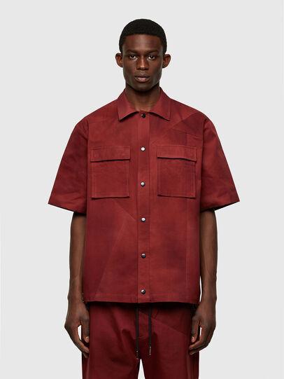 Diesel - S-GUNN-TIE, Rouge - Chemises - Image 1