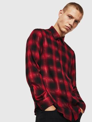S-MARLENE-C, Rouge/Noir - Chemises