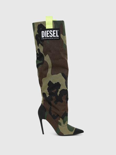 Diesel - D-SLANTY HOTK, Vert Camouflage - Bottes - Image 1