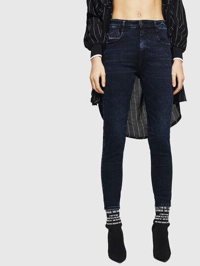 Diesel - Slandy High 082AU, Bleu Foncé - Jeans - Image 1