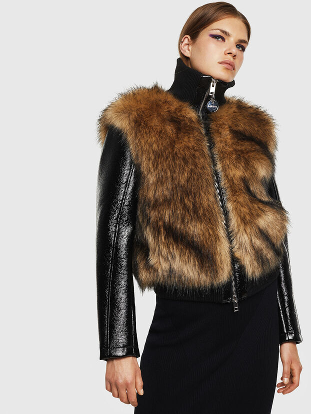 L-BURG, Noir - Vestes de cuir