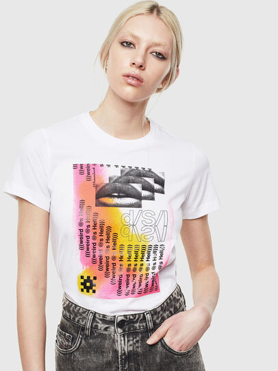 Diesel - T-SILY-S5, Blanc - T-Shirts - Image 4