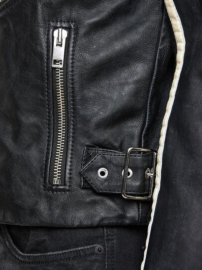 Diesel - L-PARKS, Noir/Vert - Vestes de cuir - Image 6