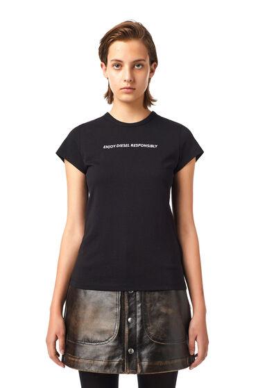 T-shirt Green Label brodé avec lettrage