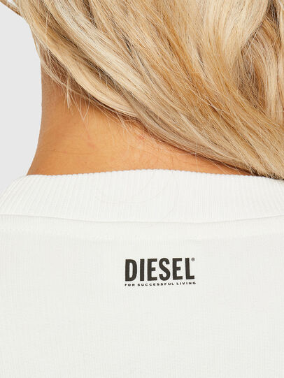 Diesel - F-ANG-R10, Blanc - Pull Cotton - Image 3