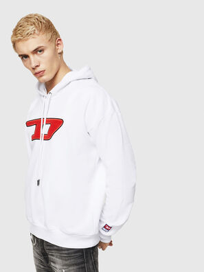 S-DIVISION-D, Blanc - Pull Cotton