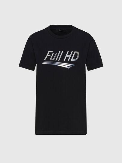 Diesel - T-SILY-E56, Noir - T-Shirts - Image 1