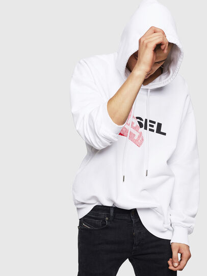 Diesel - S-ALBY, Blanc - Pull Cotton - Image 4