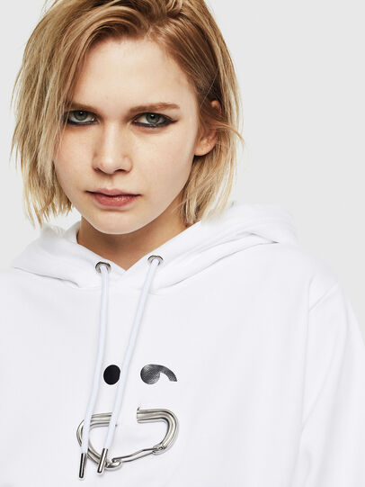 Diesel - F-ANG-HOOD-S1, Blanc - Pull Cotton - Image 3