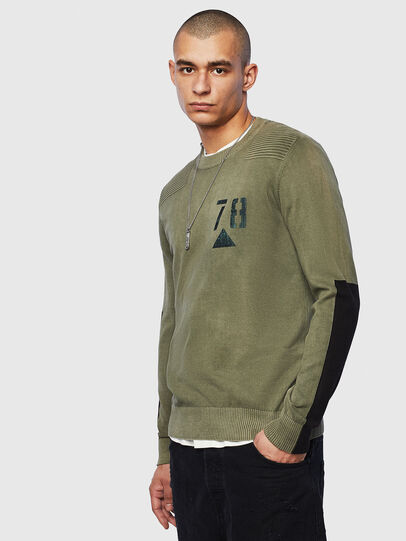 Diesel - K-PACHY, Vert Militaire - Pull Maille - Image 1
