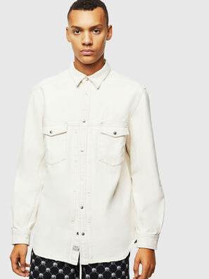 D-BANDY-B, Blanc - Chemises en Denim